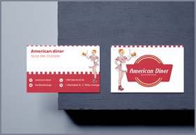 American Diner Business card